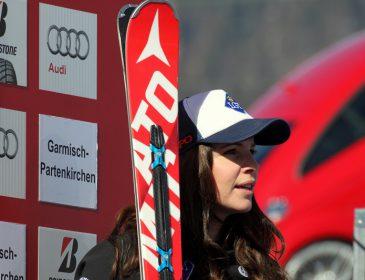 Tina Weirather (LIE) gewinnt Garmischer Kandaharabfahrt