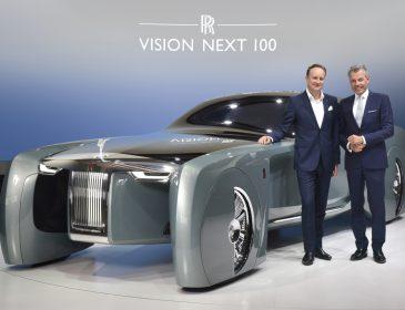 """Luxusmobilität der Zukunft: Das Visionsfahrzeug """"ROLLS-ROYCE NEXT 100"""" gastiert in der BMW-Welt München"""