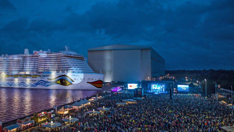 AIDA Open Air mit Taufe von AIDAnova und David Guetta Konzert am 31. August 2018 in Papenburg