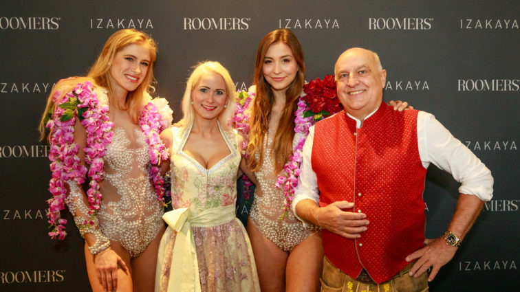 Peyman Amin, Natascha Grün, Axel Munz und Co. genießen und feiern beim Supreme Brunch im In-Restaurant Izakaya Asian Kitchen & Bar im Roomers Hotel