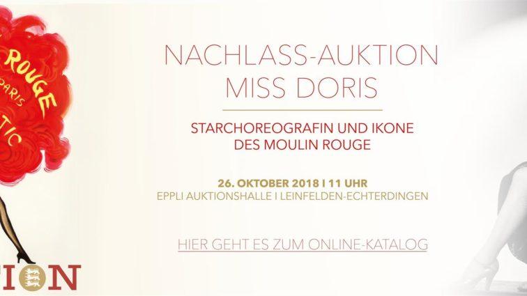 """Nachlass-Auktion """"Miss Doris"""" – Star-Choreografin und Ikone des berühmten """"Moulin Rouge"""" in Paris"""