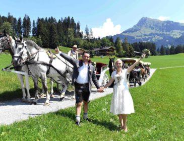 Traumhochzeit in Kitzbühel: Falk Raudies und Andrea Mühlbauer (Ex-Frau von Maxi Arland) sagen ja