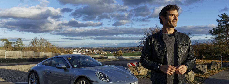 Kurz vor der Weltpremiere – Mark Webber im neuen Porsche 911