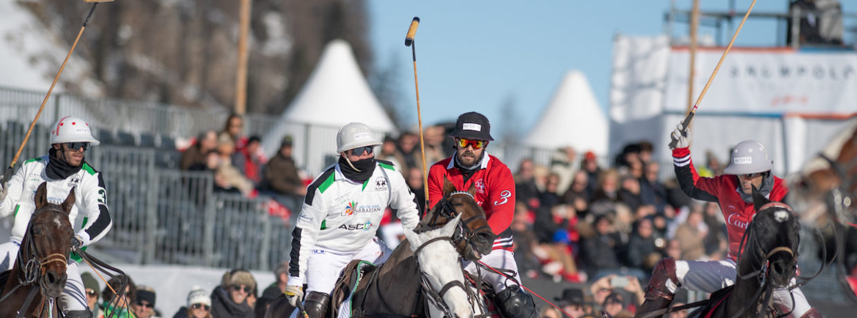 Fulminanter Start des Snow Polo World Cup 2019 in St. Moritz