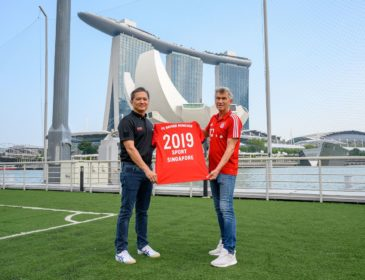 Der FC Bayern und SportSG vereinbaren  Partnerschaft in Singapur