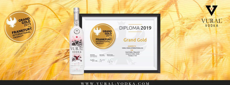 Ultra Premium Vural Vodka gewinnt GRAND GOLD bei der Frankfurt International Trophy 2019