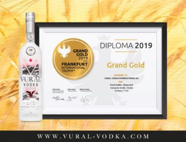 Ultra Premium Vural Vodka gewinnt GRAND GOLD bei der Frankfurt International Trophy 2019