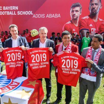 FC Bayern München eröffnet Football School in Addis Abeba