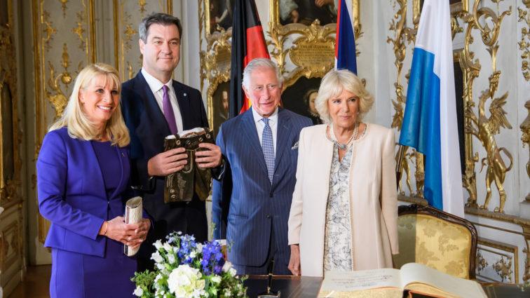 Ministerpräsident Söder begrüßt Prinz Charles und Herzogin Camilla in Bayern