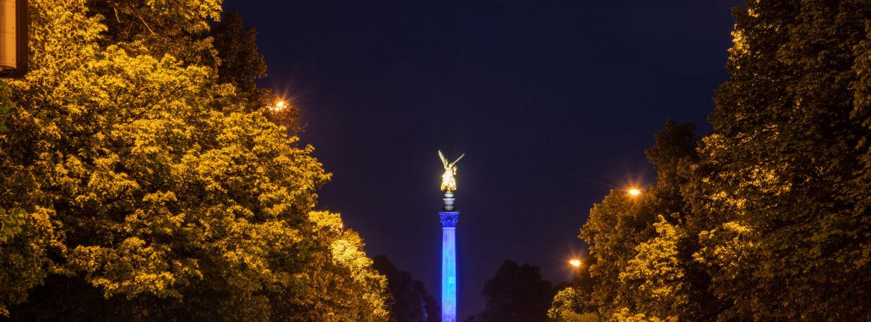 """""""München leuchtet für Europa"""": Friedensengel erstrahlt zum Europatag in völlig neuem Glanz"""