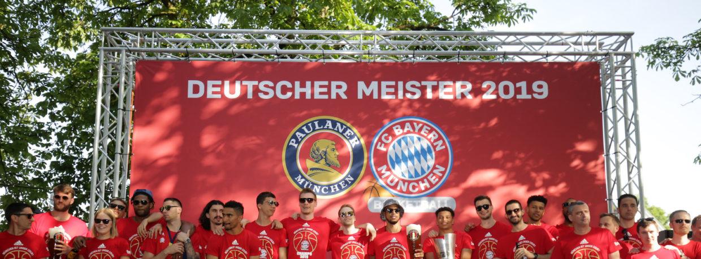 Meisterfeier des FC Bayern Basketball mit 1.000 Fans in München