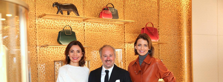 Wiedereröffnung der Cartier Boutique München mit Eva Padberg und Nadine Warmuth