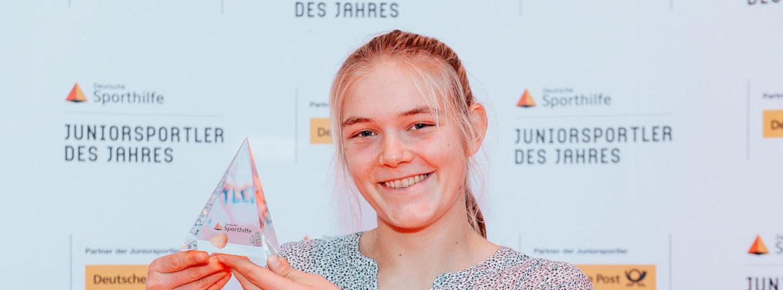 """Ruder-Talent Alexandra Föster als """"Juniorsportler des Jahres"""" 2019 ausgezeichnet"""