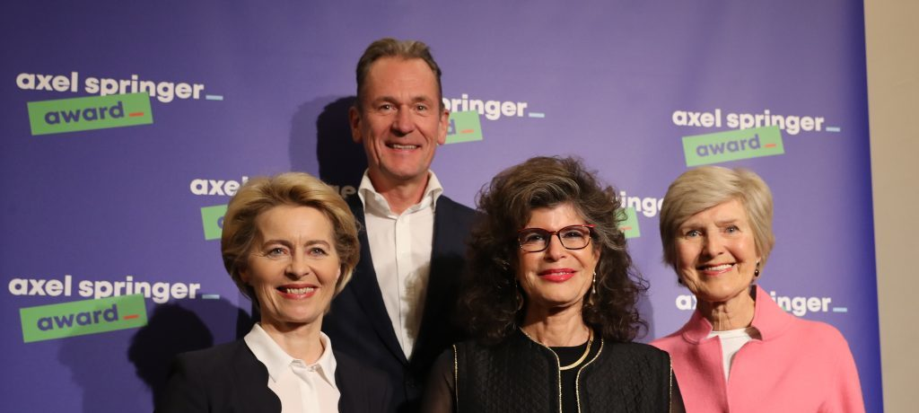 """""""Mit Mut und klarer Haltung"""": Shoshana Zuboff erhält Axel Springer Award 2019"""