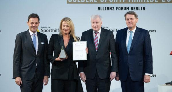 Goldene Sportpyramide: Franziska van Almsick verdreifacht Preisgeld auf 75.000 Euro