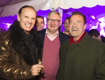 Arnold Schwarzenegger & Co beim 5. Daniel Marshall Kitzbühel Campfire Cigar Event