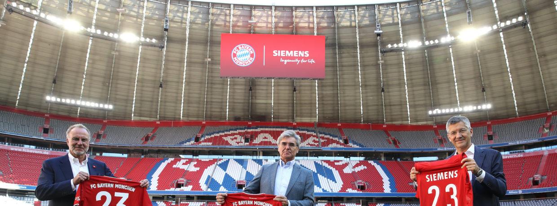 FC Bayern München und Siemens verlängern Partnerschaft
