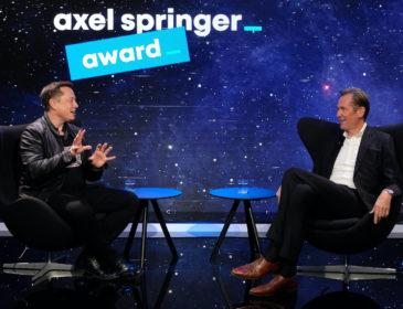 """""""Mission to Mars"""" – Elon Musk persönlich mit Axel Springer Award ausgezeichnet"""