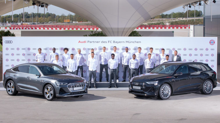 Audi elektrifiziert den FC Bayern München