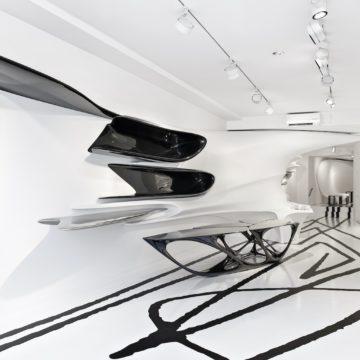Ausstellung von Zaha Hadid in der Galerie Gmurzynska in Zürich
