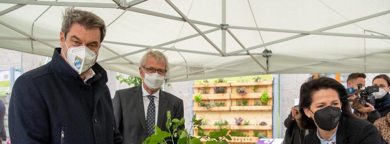 Eröffnung des Urban-Gardening-Schaugarten in München
