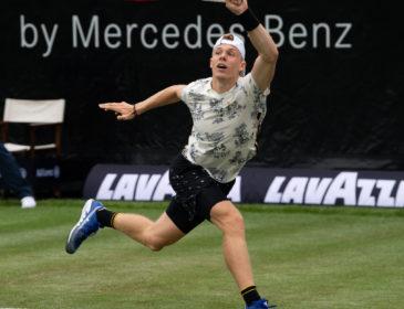 Toptalent Dominic Stricker feiert beim MercedesCup ATP-Rasenpremiere