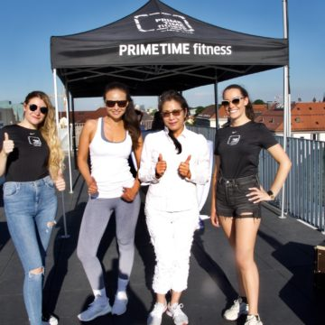 Opening des Open-Air Fitness-Studios Bel Air Prime Time Fitness