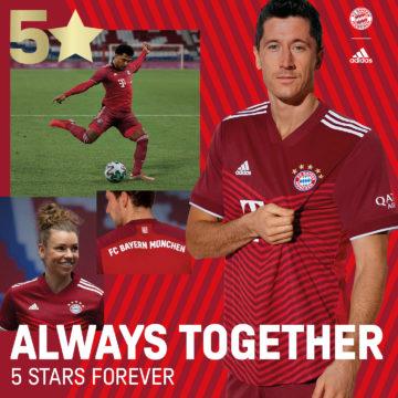 Präsentation des neuen Heimtrikots: FC Bayern künftig mit 5. Stern