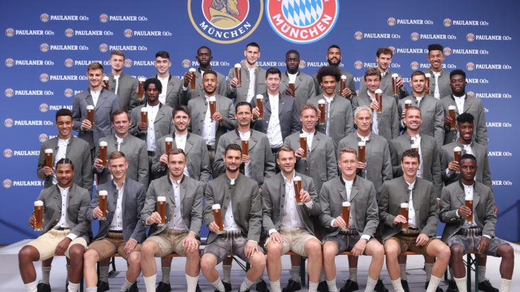 FC Bayern: Lederhosen-Shooting bei Paulaner am Nockherberg