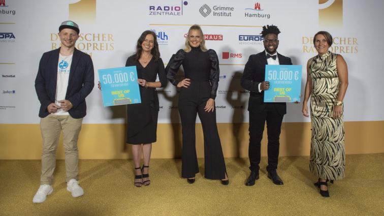 Spendenübergabe beim Deutschen Radiopreis